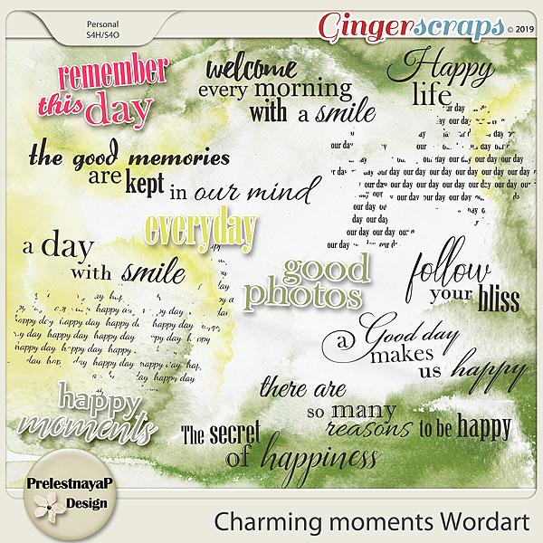 Charming moments Wordart