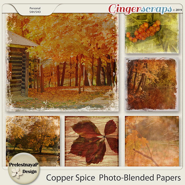 Copper spice Photo-Blended papers