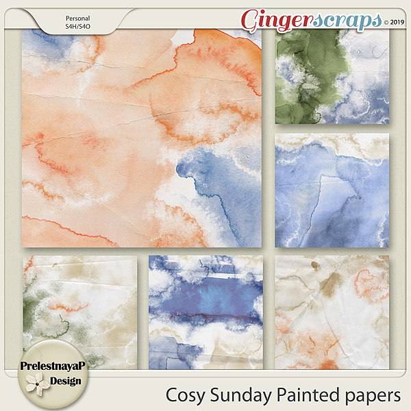Cosy Sunday Painted papers