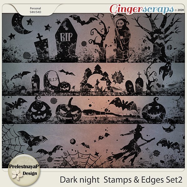 Dark night Stamps & Edges Set2