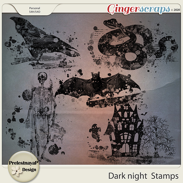 Dark night Stamps