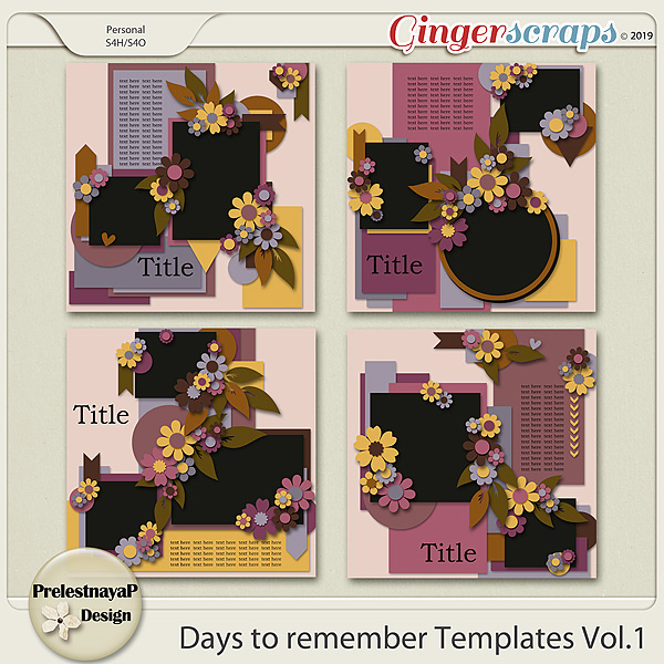 Days to remember templates Vol.1