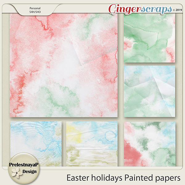 Easter holidays Painted papers