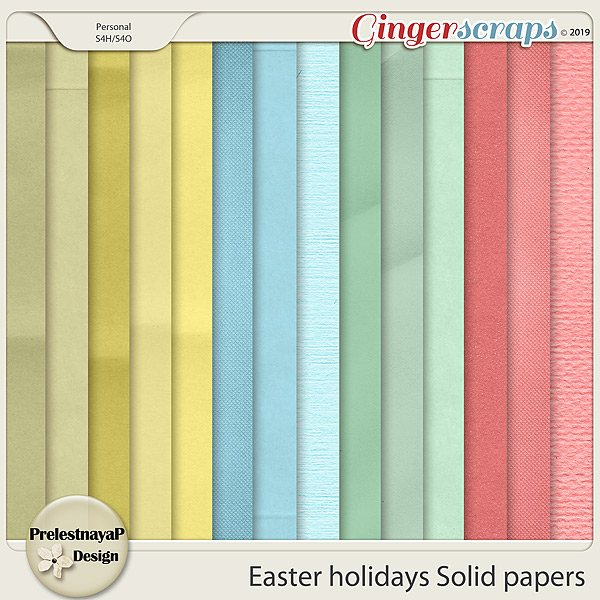 Easter holidays Solid papers