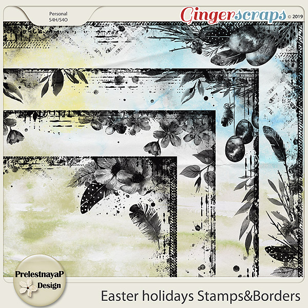 Easter holidays Stamps&Borders