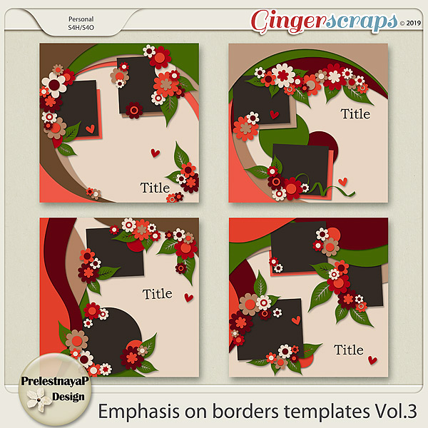 Emphasis on borders Templates Vol.3