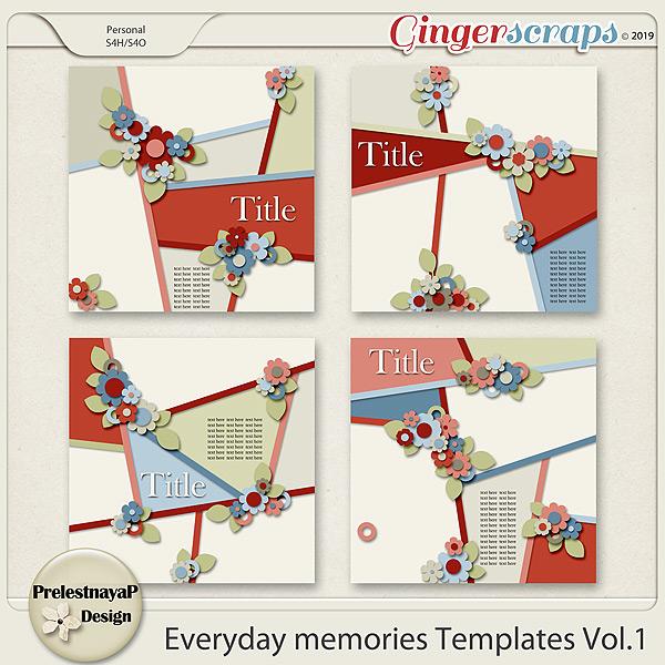 Everyday memories Templates Vol.1