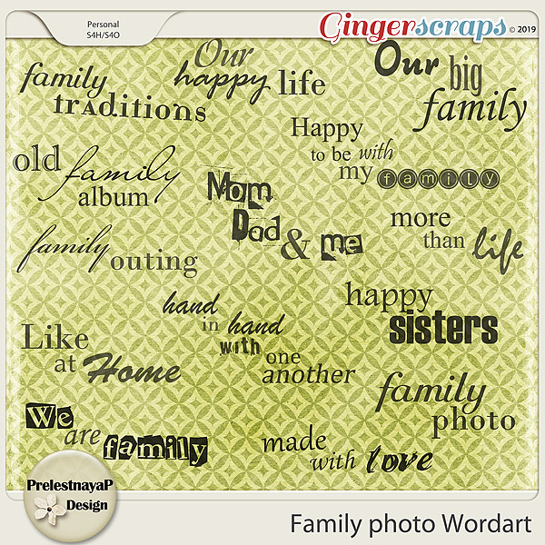 Family photo Wordart