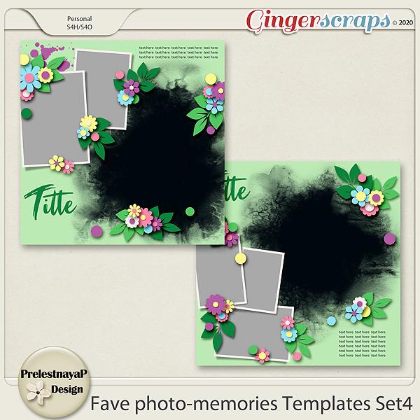Fave photo-memories Templates Set4