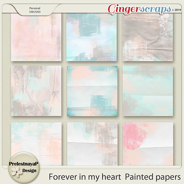 Forever in my heart Painted papers