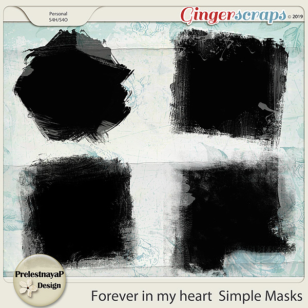 Forever in my heart Simple Masks