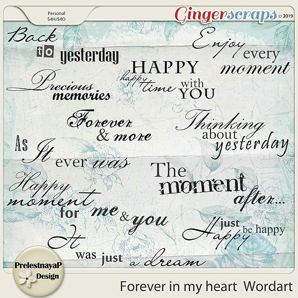 Forever in my heart Wordart