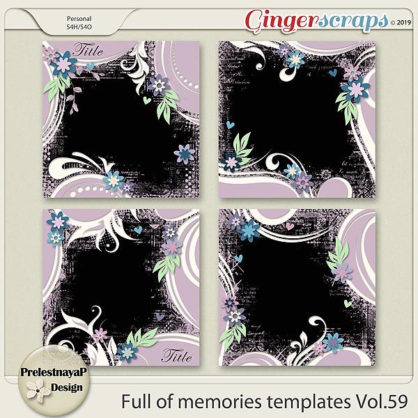Full of memories Templates Vol.59
