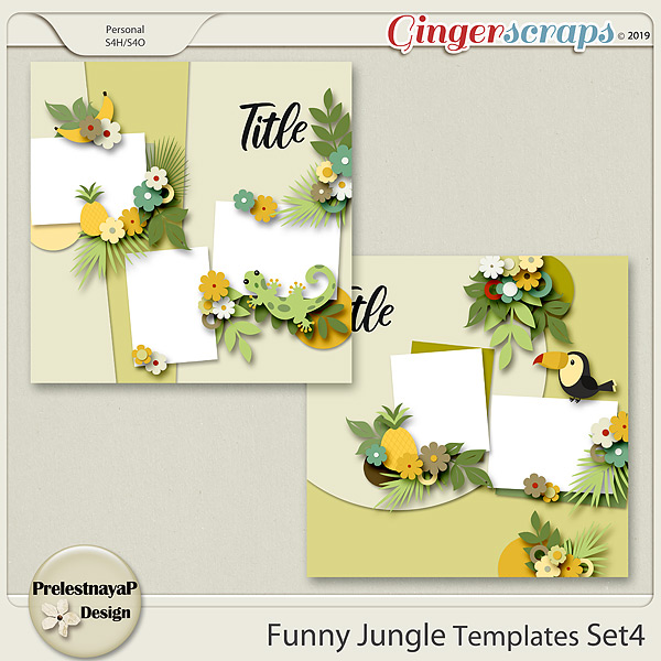 Funny Jungle Templates Set4