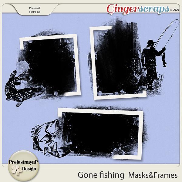 Gone fishing Masks & Frames