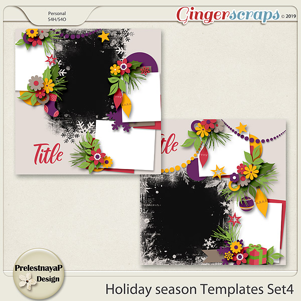 Holiday season Templates Set4