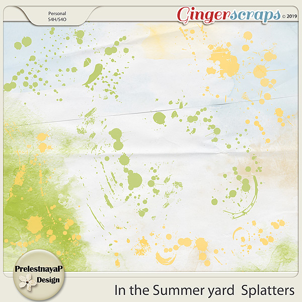 In the Summer yard Splatters