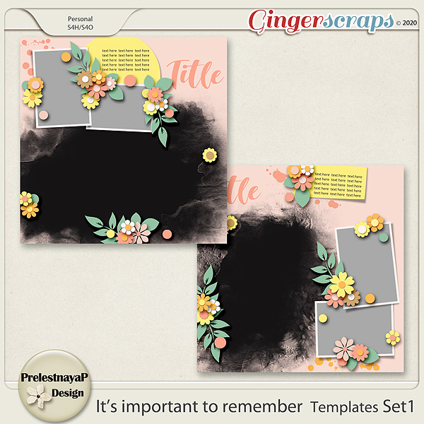 It's important to remember Templates Set1