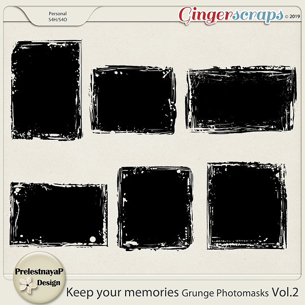 Keep your memories Grunge Photomasks Vol.2