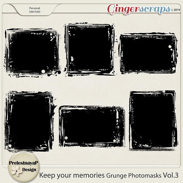 Keep your memories Grunge Photomasks Vol.3