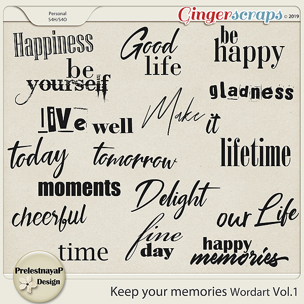 Keep your memories Wordart Vol.1