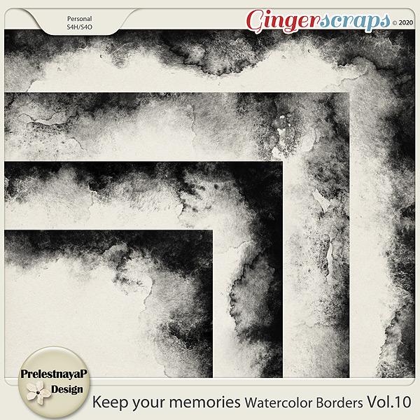 Keep your memories Watercolor Borders Vol.11