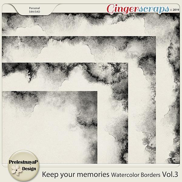 Keep your memories Watercolor Borders Vol.3