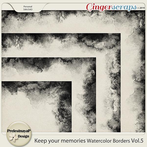 Keep your memories Watercolor Borders Vol.5
