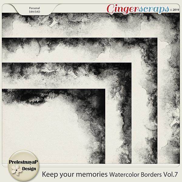 Keep your memories Watercolor Borders Vol.7