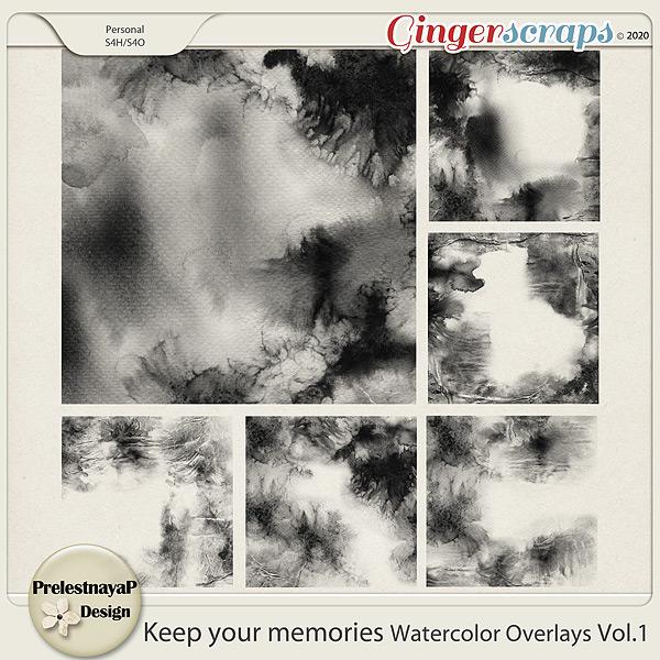 Keep your memories Watercolor Overlays Vol.1