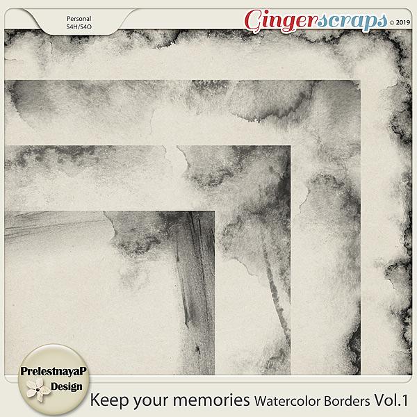 Keep your memories Watercolor Borders Vol.1