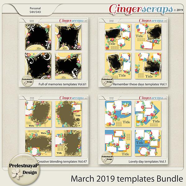 March 2019 Templates Bundle