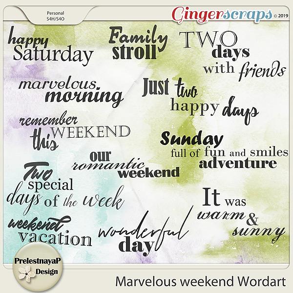 Marvelous weekend Wordart