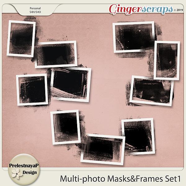 Multi-photo Masks&Frames Set1