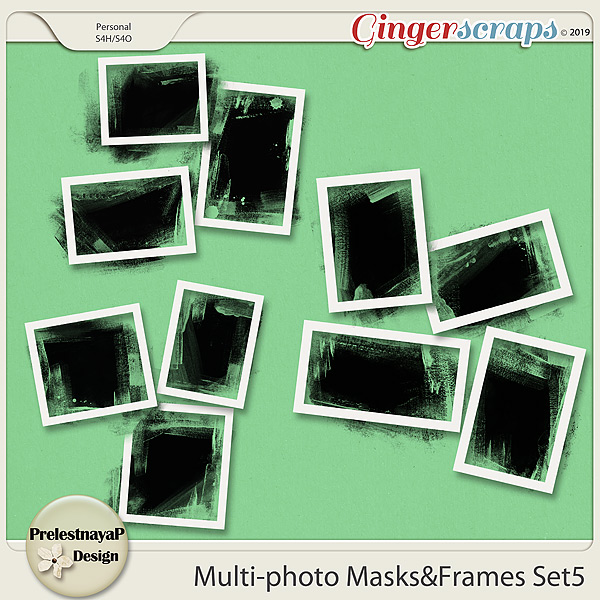 Multi-photo Masks&Frames Set5