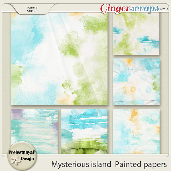 Mysterious island Painted papers
