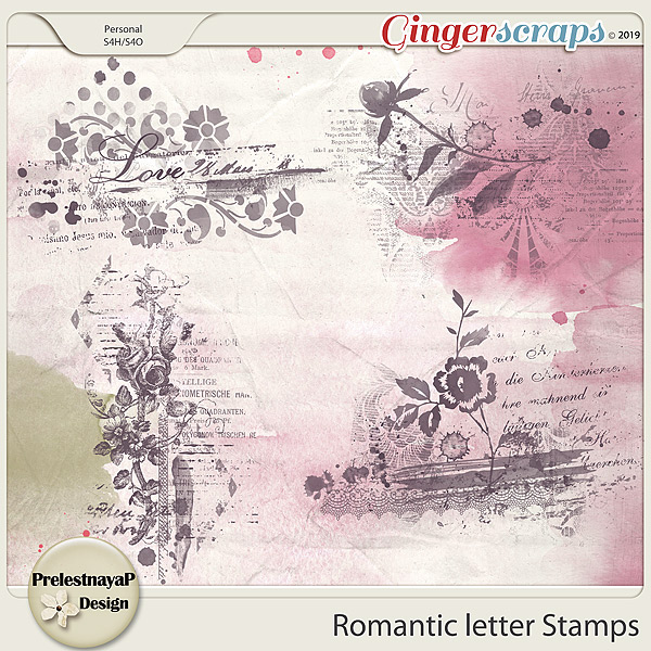 Romantic letter Stamps