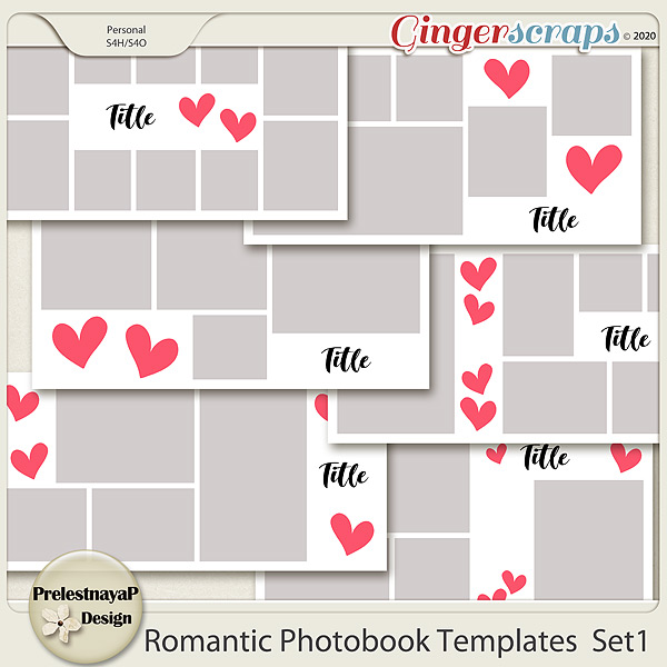 Romantic Photobook templates Set 1
