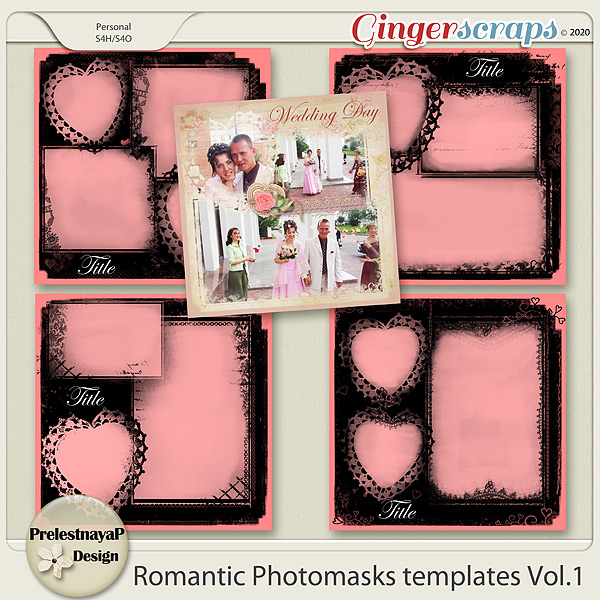 Romantic photomasks Templates Vol.1