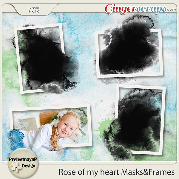 Rose of my heart Masks&Frames