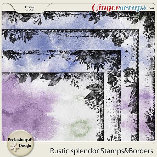 Rustic splendor Stamps&Borders