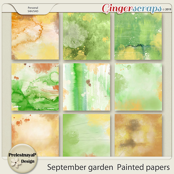 September garden Painted papers