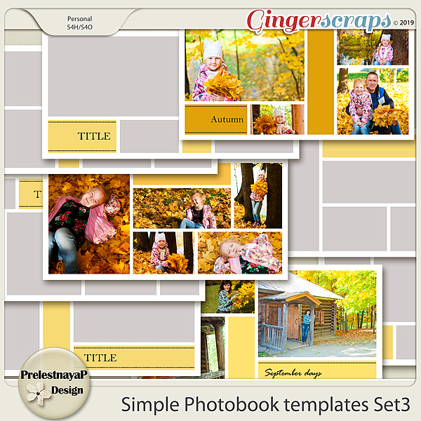 Simple Photobook templates Set 3