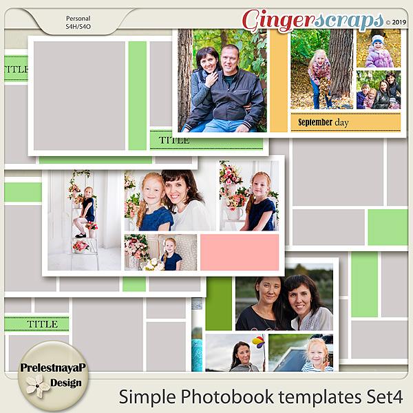 Simple Photobook templates Set 4