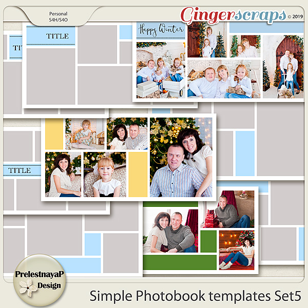 Simple Photobook templates Set 5