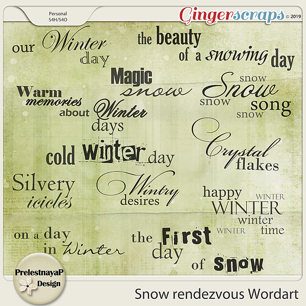 Snow rendezvous Wordart