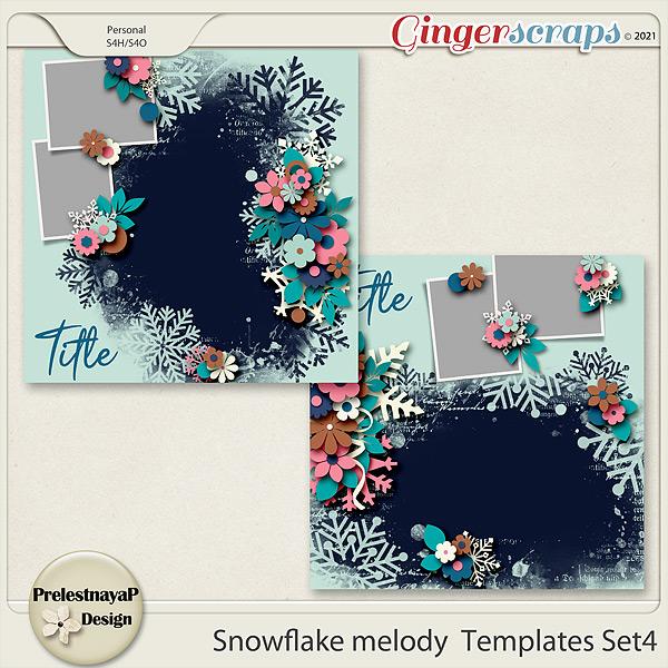 Snowflake melody Templates Set4