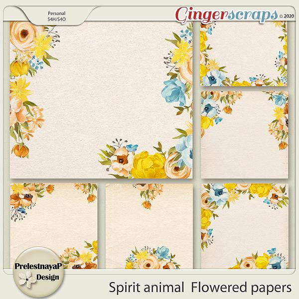Spirit animal Flowered papers