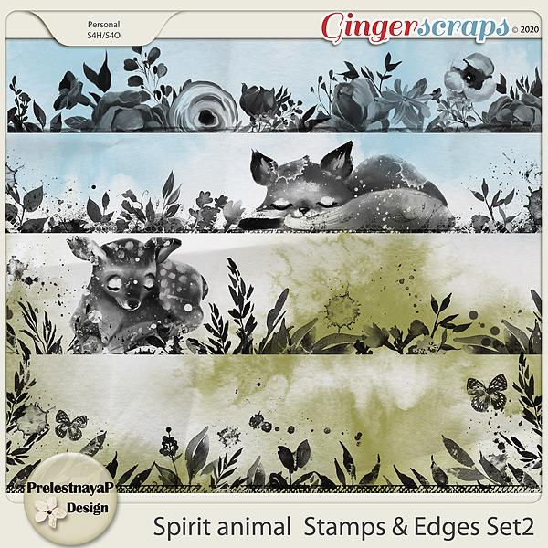Spirit animal Stamps & Edges Set2