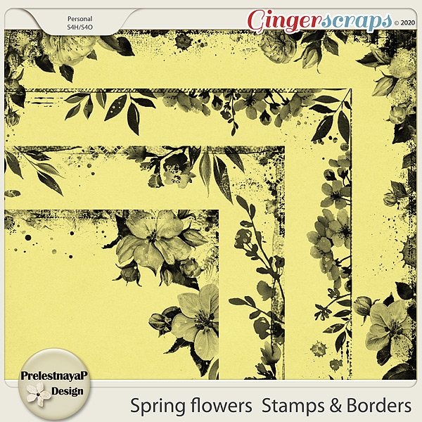 Spring flowers Stamps & Borders